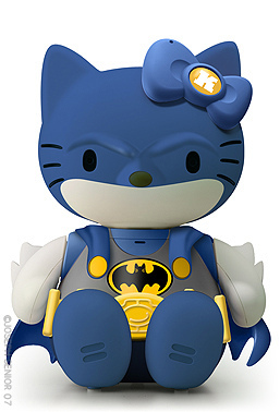 Hello Kitty crossed over with Batman