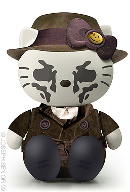 Hello Kitty and Rorschach crossover