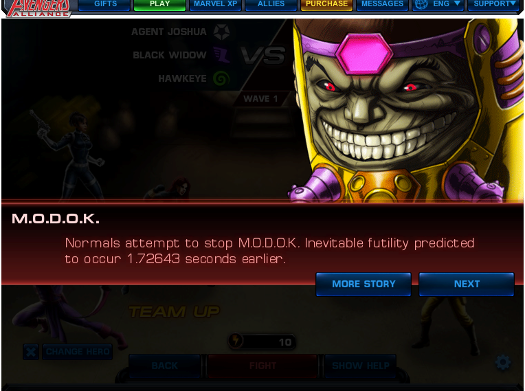 Avengers Alliance MODOK Boss Fight