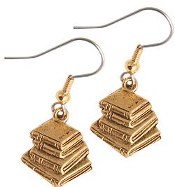 books, earrings, gifts, mother's day, ideas, mom, geek, nerd, bookworm