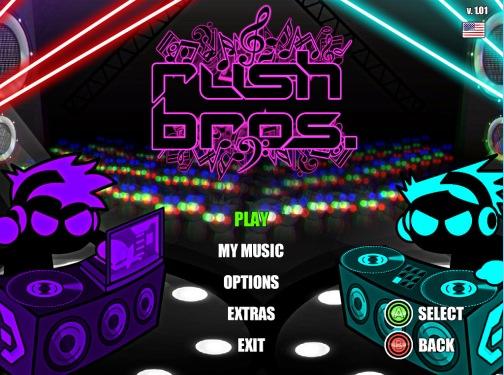 rush bros. title screen