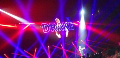 Drake onstage for FIFA.