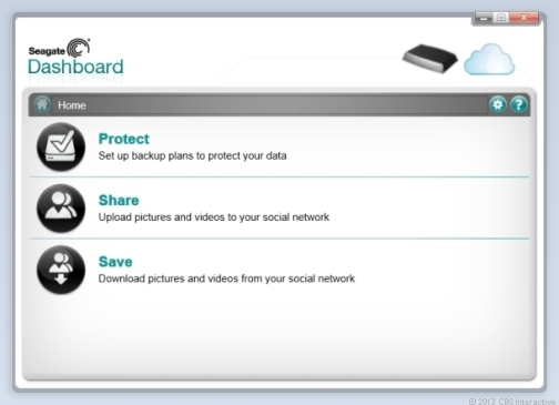 Seagate Dashboard. Credit: Screenshot by Dong Ngo/CNET.