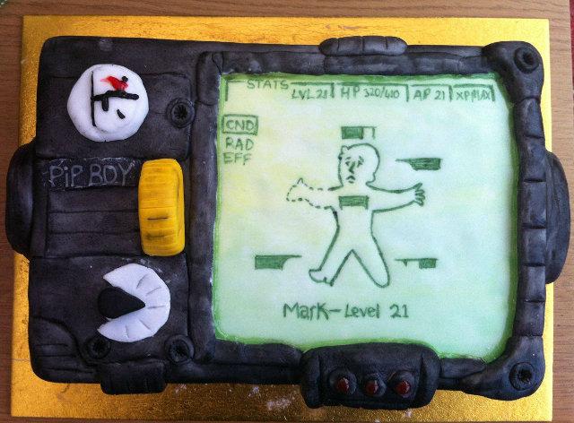 Pip Boy (Fallout) Cake