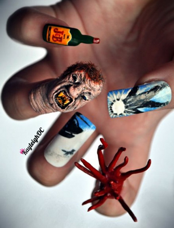The Ten Scariest Nail Art Designs for Halloween | Nerdy But Flirty