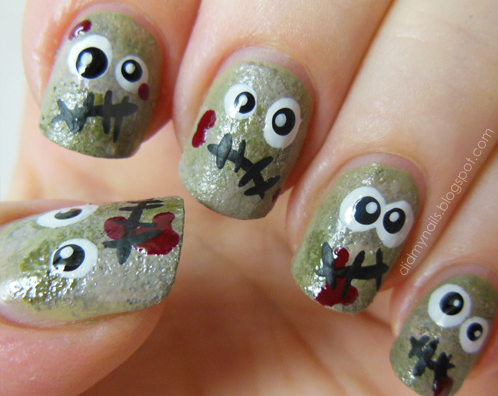 The Ten Scariest Nail Art Designs For Halloween Nerdy But Flirty
