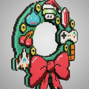 8-bit wreath