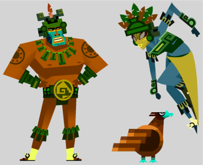 guacamelee costume warriorz