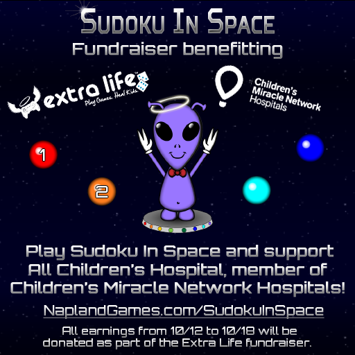 Sudoku in space extra life fundraiser nerdy but flirty for The space llc