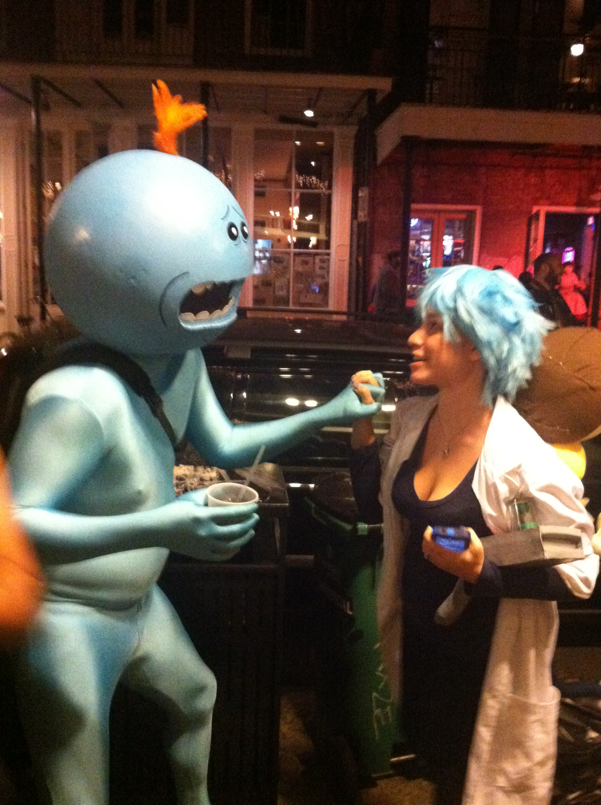 rick and morty and mr meseeks nerdy but flirty