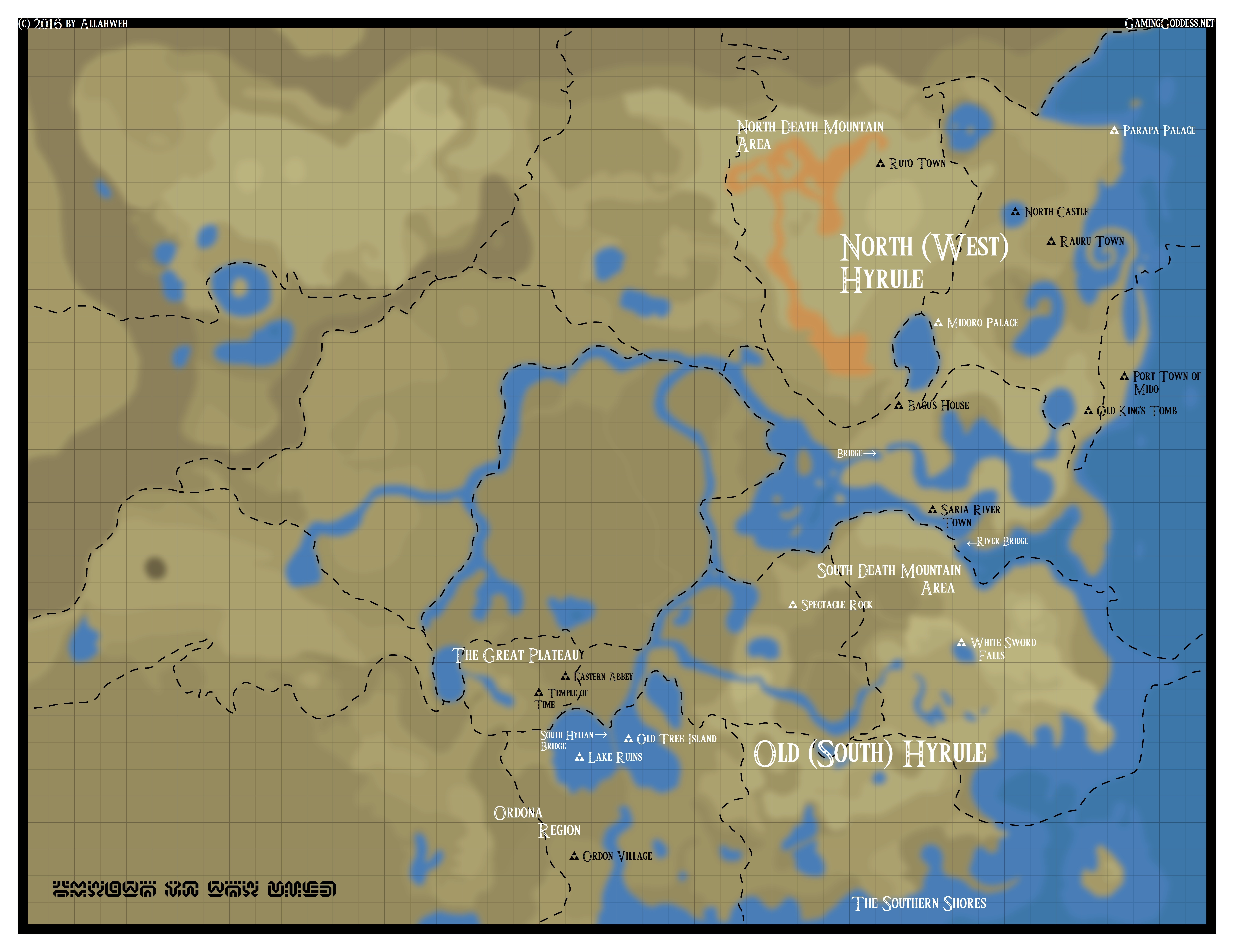 Cartography of zelda breath of the wild nerdy but flirty annotated botw eastern map v2 gumiabroncs Choice Image