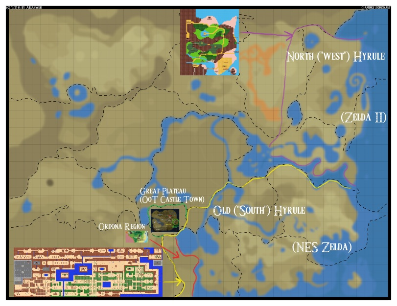 Districted BotW Eastern Map
